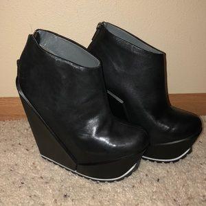 United Nude Delta Black Platform Ankle Boots